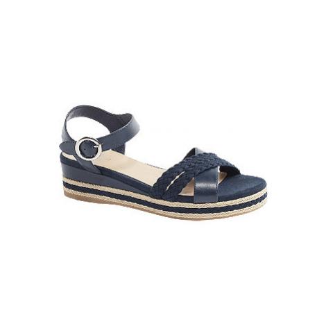 Tmavě modré sandály na klínku Graceland
