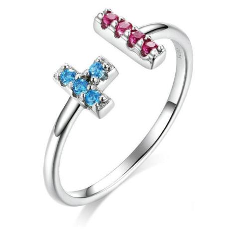 Linda's Jewelry Stříbrný prsten Tetris Ag 925/1000 IPR056 Velikost: Univerzální