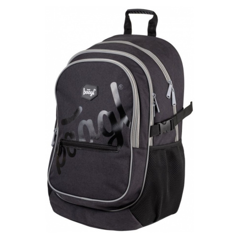 Černý zipový voděodolný školní batoh Delmore Baagl