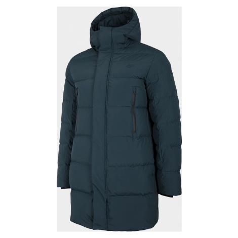Pánský péřový kabát 4F KUMP201 Tmavě modrý
