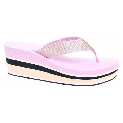 Dámské plážové pantofle Tommy Hilfiger FW0FW03864 518 pink lavender