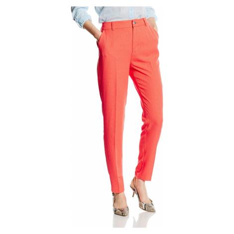 Guess GUESS dámské kalhoty oranžové