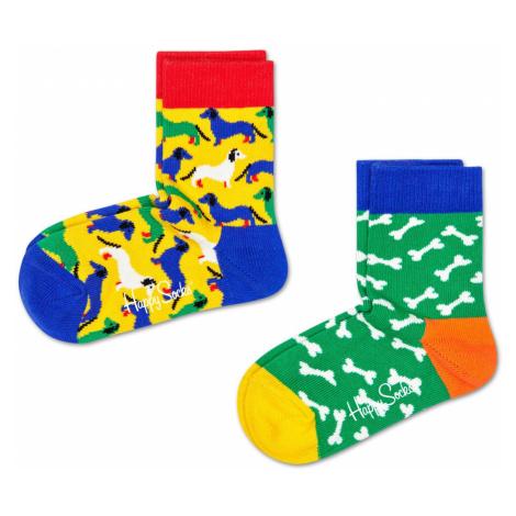 2-Pack Dog Socks Happy Socks
