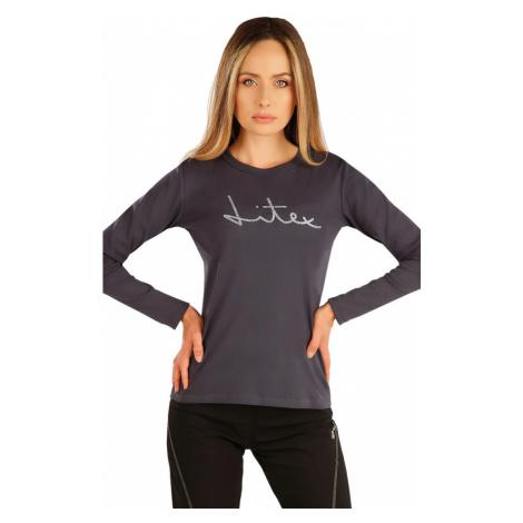 LITEX Tričko dámské s dlouhým rukávem 7A367117 tmavě šedá