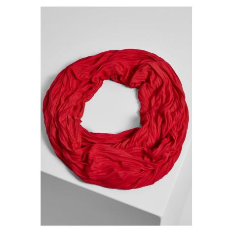 Wrinkle Loop Scarf - red Urban Classics
