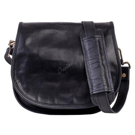 Bagind Hanty Sirius - Dámská kožená kabelka černá, ruční výroba, český design
