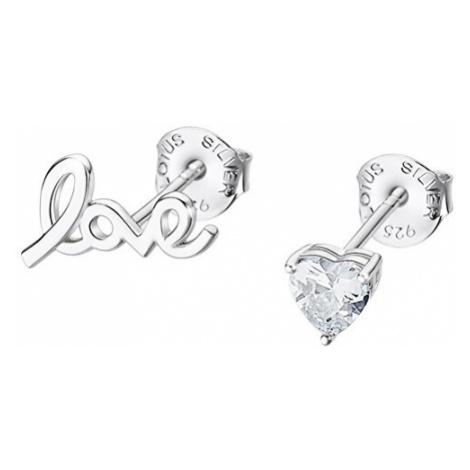 Lotus Silver Romantické asymetrické náušnice pecky ze stříbra LP3221-4/1