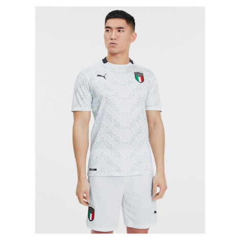 Italia Figc Away Triko Puma Bílá