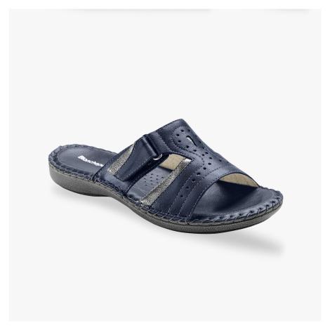Blancheporte Kožené pantofle, námořnicky modré námořnická modrá