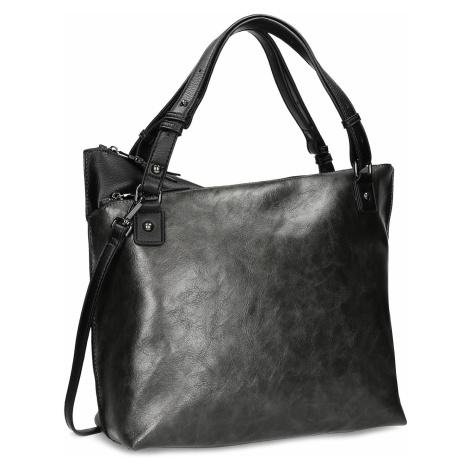 Černá kabelka s metalickými odlesky Baťa