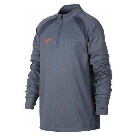 Nike DRY ACDMY DRIL TOP SMR šedá - Chlapecké sportovní tričko