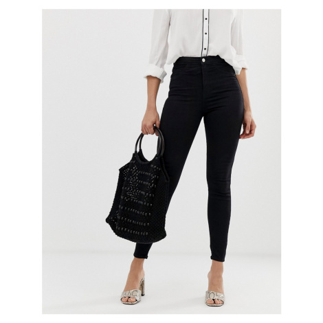 River Island Molly mid rise skinny jeggings in black