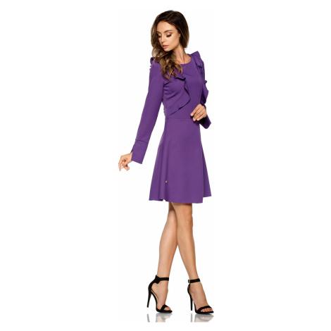Elegantní šaty s volány áčkového střihu s dllouhými rukávy Lemoniade