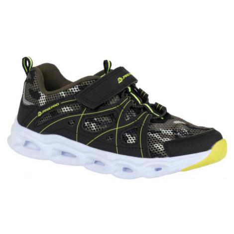 ALPINE PRO BERTO zelená - Dětská sportovní obuv
