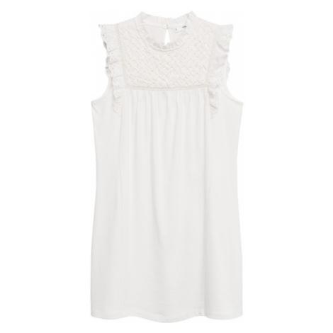 MANGO Letní šaty 'Petra' krémová