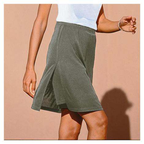 Blancheporte Kalhotová sukně šedý melír