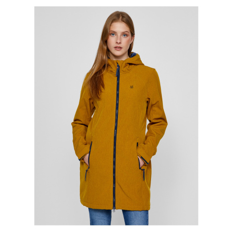 Hořčicový dámský softshellový kabát LOAP Lecika