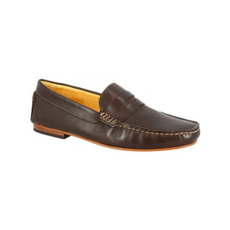 Leonardo Shoes 503 VITELLO T. MORO FONDO CUOIO Hnědá