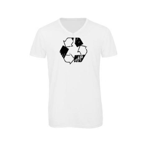 Pánské triko s výstřihem do V Recyklace