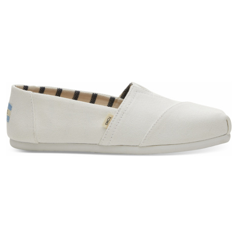 Toms White Canvas Women Alpargata