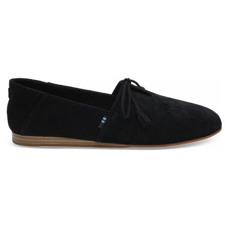 Black Suede Women Kelli Flat Toms