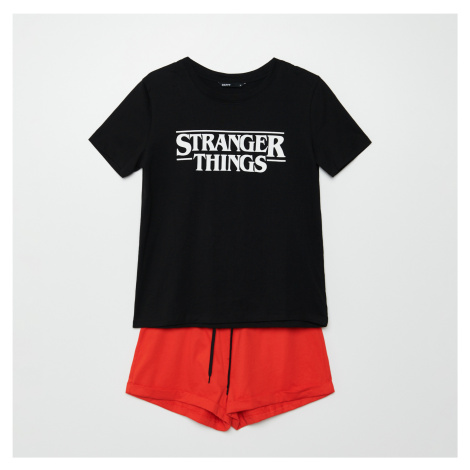 Cropp - Dvoudílná pyžamová souprava Stranger Things - Červená