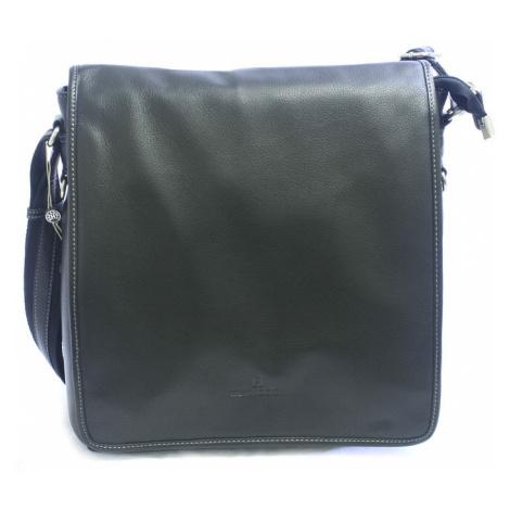 Černá kožená taška přes rameno Hexagona 469563