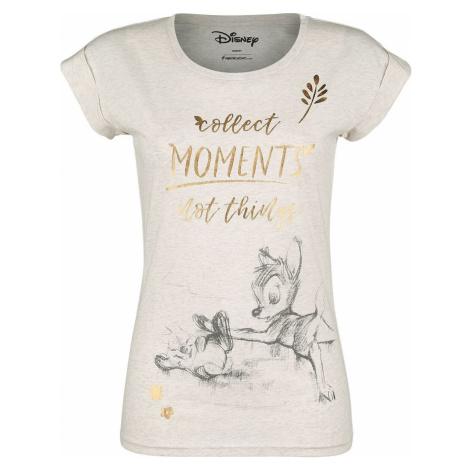 Bambi Collect Moments Not Things dívcí tricko strakatá krémová