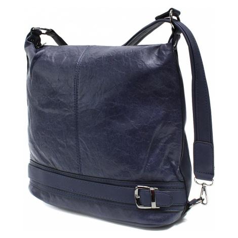 Tmavě modrá trendy dámská kabelka Clarita Mahel