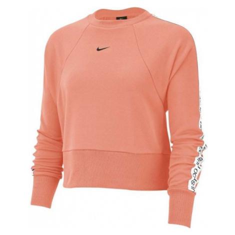 Nike DRY GET FIT FLC CRW JDI T oranžová - Dámská mikina