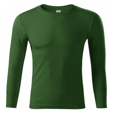 Piccolio Progress LS Unisex tričko P7506 lahvově zelená