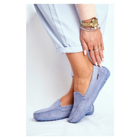Women's Loafers Suede Blue Morreno