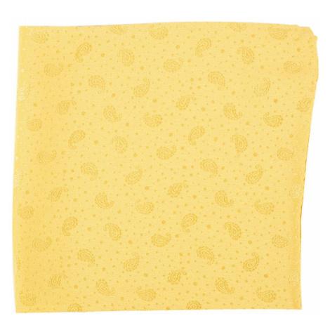 Žlutý hedvábný kapesníček s paisley vzorem John & Paul