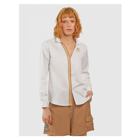 Košile La Martina Woman L/S Shirt Cotton Poplin - Bílá