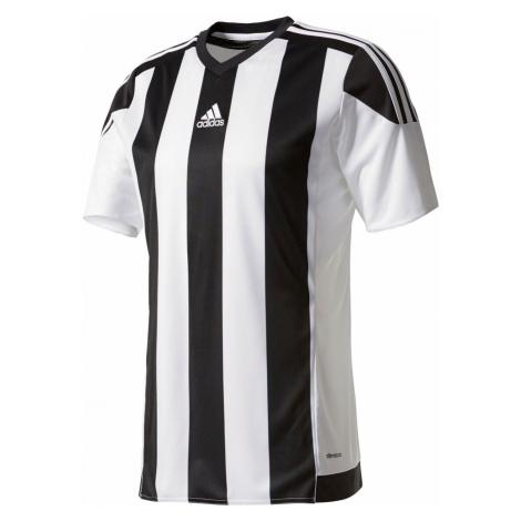Dres adidas Striped 15 Jersey Bílá / Černá