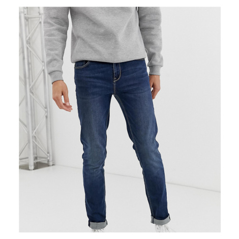 ASOS DESIGN Tall skinny jeans in dark wash-Blue