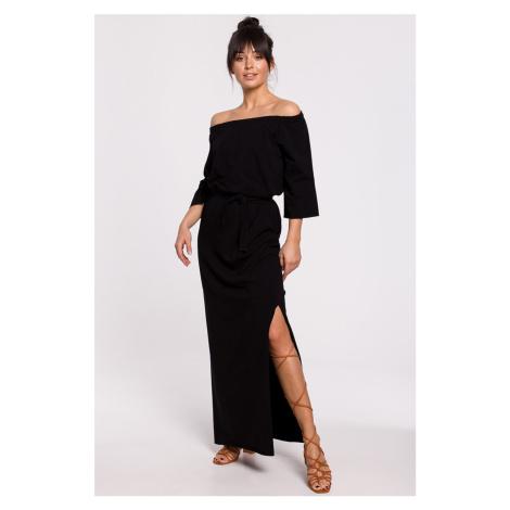 Černé šaty B146