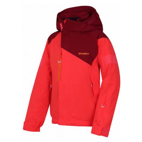 Dětská lyžařská bunda HUSKY Gonzal Kids neonově růžová