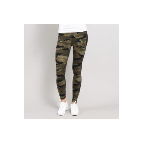 Urban Classics Ladies Camo Stripe Leggings camo zelené