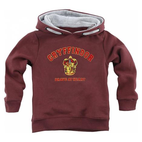 Harry Potter Gryffindor - Brave At Heart detská mikina s kapucí bordová