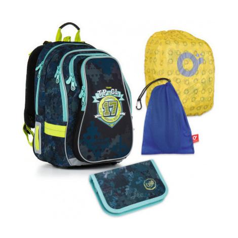 Velký školní set Topgal - CHI 878 D + CHI 911 + pytlík na přezůvky + pláštěnka