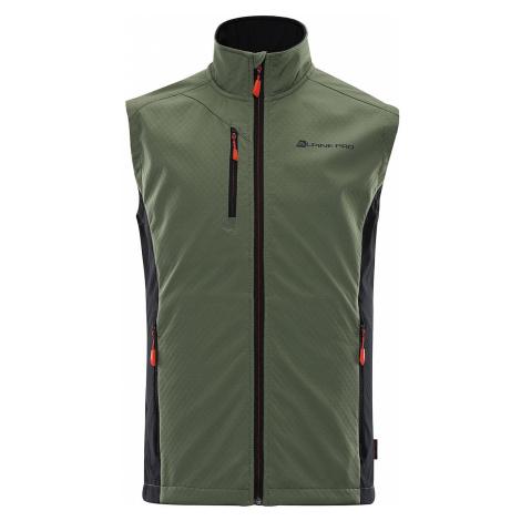 Pánská vesta Alpine Pro AKLEPIOS 7 - tmavě zelená