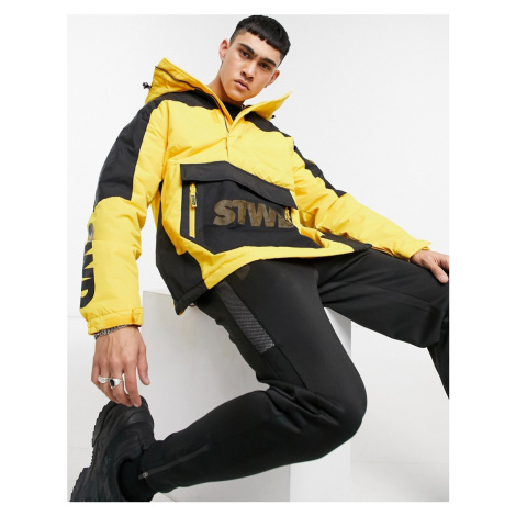 Pull&Bear overhead jacket in yellow and black Pull & Bear