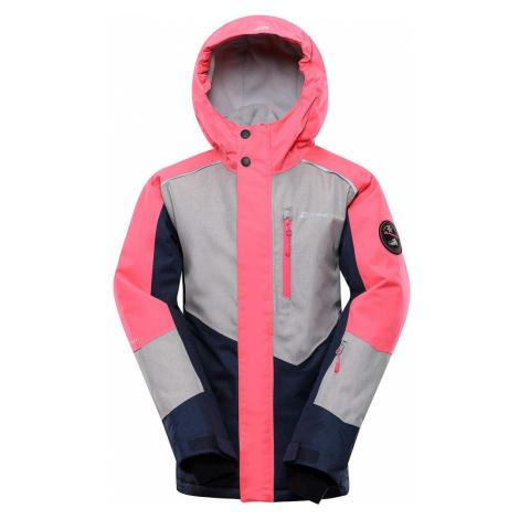 ALPINE PRO SARDARO 3 Dětská lyžařská bunda KJCS201452 růžová