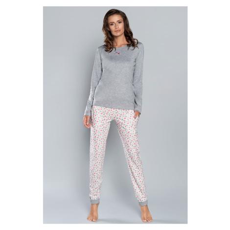 Dámské pyžamo Italian Fashion Lena LL Šedá