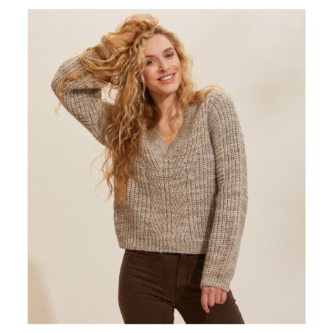 Svetr Odd Molly Tilda Sweater - Hnědá