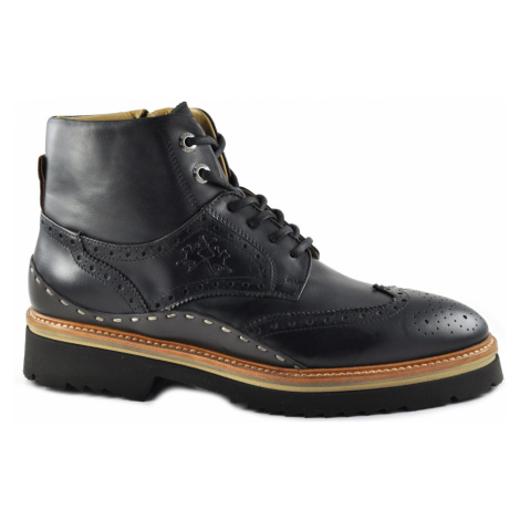 Kotníková Obuv La Martina Man'S Boot Canyon - Ohio Black - Černá