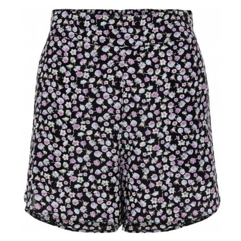 PIECES Kalhoty 'Nya' černá / fialová / světlemodrá