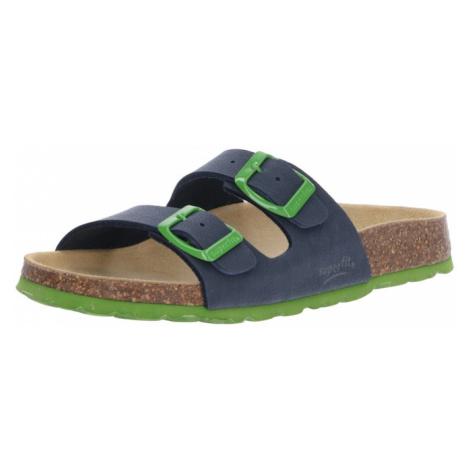 SUPERFIT Otevřená obuv limetková / tmavě modrá