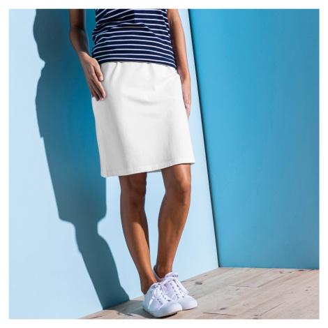 Blancheporte Rovná jednobarevná sukně bílá